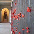 Red poppies for the fallen by Angela Millear