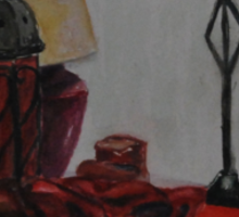 study of red objects Sticker