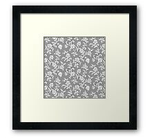 Antique Vintage Floral Leaf Pattern Framed Print