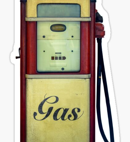 Classic Gas Pump Sticker