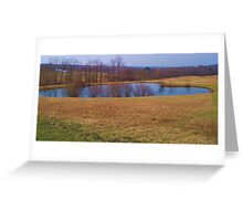 Heart Shaped Pond Greeting Card