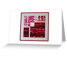 crimson off white Greeting Card