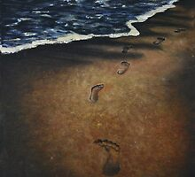 lonely walk with broken heart by Inese