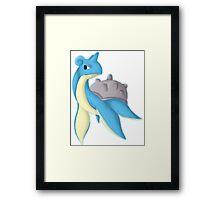Lapras Water Pokémon Framed Print
