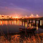 Walney Bridge Night by davidautef