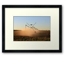 On a farm in Orania, Northern Cape, South Africa. Irrigation Framed Print