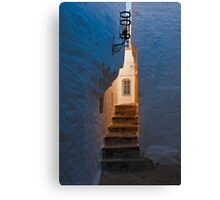 Daybreak in the backstreet alley, Patmos, Dodecanese Islands Canvas Print