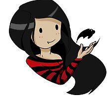 Marceline's bat by dreamyn