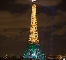 Eiffel Tower Night by Alan LeClair