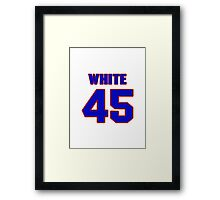 National baseball player Bill White jersey 45 Framed Print