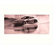 Mercedes McLaren SLR skidding Art Print