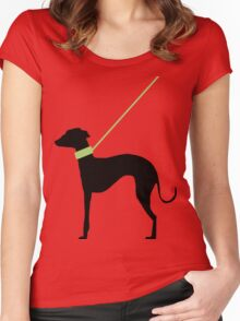 Italian Greyhound Silhouette Women's Fitted Scoop T-Shirt