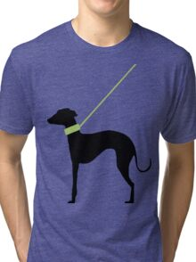 Italian Greyhound Silhouette Tri-blend T-Shirt