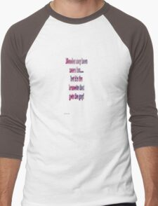Blondes may have more fun....but it's the brunette that gets the guy! Men's Baseball ¾ T-Shirt