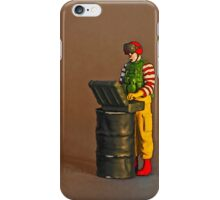Ronnie sends out the robot to look for suspect buckets of chicken! iPhone Case/Skin