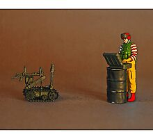 Ronnie sends out the robot to look for suspect buckets of chicken! by Tim Constable