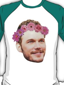 Chris Pratt Flower Crown T-Shirt