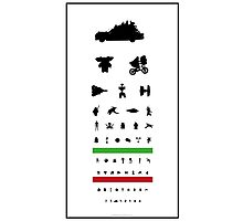 Eye Chart - 80s Movies Photographic Print