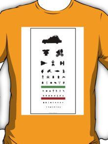 Eye Chart - 80s Movies T-Shirt