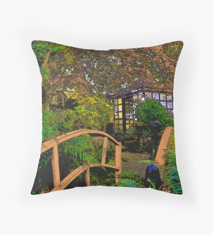 Japanese Tea House Mt Macedon Throw Pillow