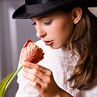 Woman with flower by Mcary