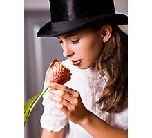 Woman with flower Photographic Print