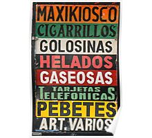 street sign- Buenos Aires Poster