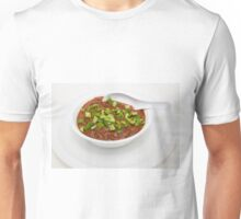 Bowl of Chili with Green Peppers Unisex T-Shirt