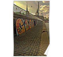 Graffiti in Copenhagen by Tim Constable Poster