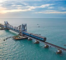Pamban Bridge by tamilian