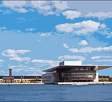 View of Copenhagen Opera House, by Tim Constable by Tim Constable