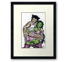 Crumby Cartoon Framed Print