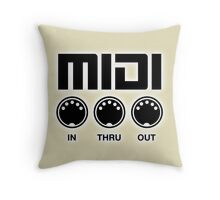 Midi Black Throw Pillow