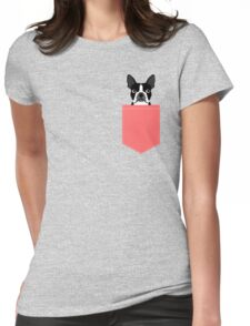 Kennedy - Boston Terrier customizable dog gifts for pet owners and Boston Terrier gifts for dog lovers Womens Fitted T-Shirt