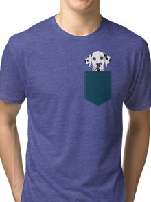 Ryan - Dalmatian Dog Print for Dog Lover, Pet Owner Tri-blend T-Shirt