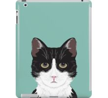 Quinn - Cute black and white cat gifts for cat person and cat lady gifts iPad Case/Skin