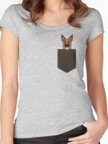 Skylar - German Shepherd gift ideas for dog person and dog people gifts Women's Fitted Scoop T-Shirt