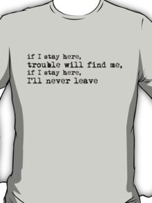 The National 'Sea of Love' Lyric Print T-Shirt