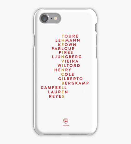 Arsenal Invincibles iPhone Case/Skin