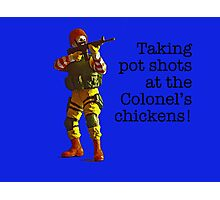 Taking pot shots! Photographic Print