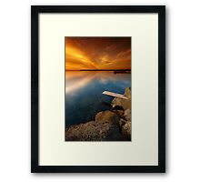 Walk the Plank Framed Print