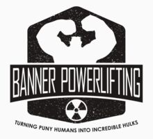 The Incredible Hulk - Banner Powerlifting Black by garywithrow