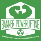 The Incredible Hulk - Banner Powerlifting White by garywithrow