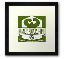 The Incredible Hulk - Banner Powerlifting White Framed Print