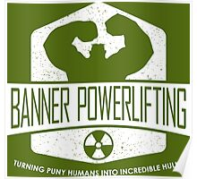 The Incredible Hulk - Banner Powerlifting White Poster