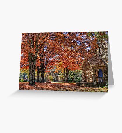 Heavenly Fall Greeting Card