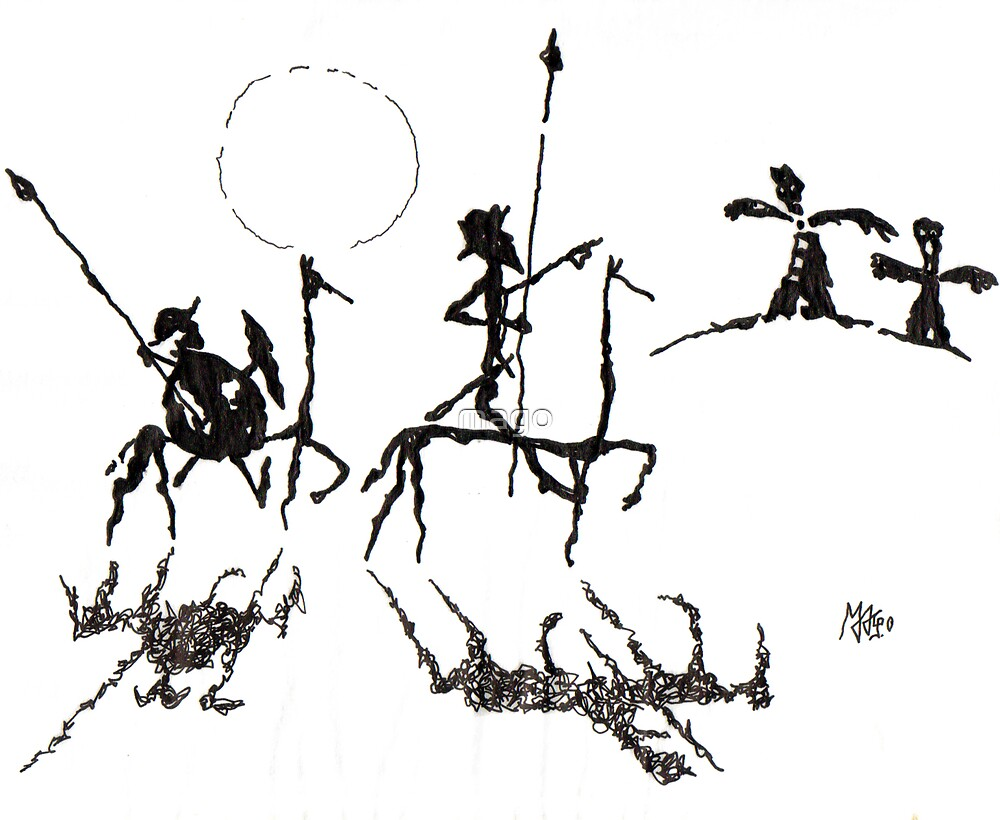Don Quijote y Sancho Panza by mago