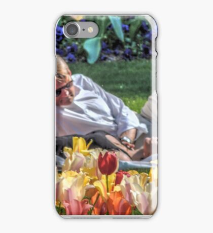 Saturday In the Park iPhone Case/Skin