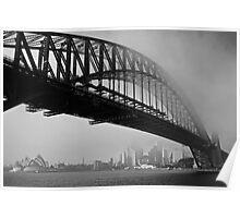 Sydney Harbour Fog Poster