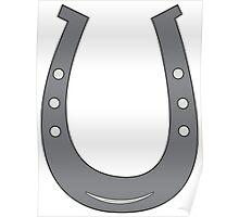 Grey/Black Horseshoe Poster
